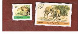TANZANIA  -  SG 308 -  1980  ANIMALS     - USED ° - Tanzania (1964-...)