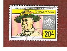 TANZANIA  -  SG 359 -  1982  BOY SCOUT MOVEMENT:  R. BADEN-POWELL    - USED ° - Tanzania (1964-...)
