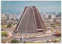 °°° 13770 - BRASIL - RIO DE JANEIRO - NOVA CATEDRAL - 1977 With Stamps °°° - Rio De Janeiro