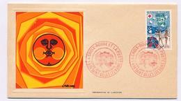 FRANCE-REUNION - 2 Enveloppes Thiaude Premier Jour Croix Rouge 1974 - 30 Nov 1974 - Reunion Island (1852-1975)