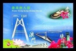 Macao 2018 Mih. 2214 (Bl.277) Macao-Zhuhai-Hong Kong Bridge MNH ** - 1999-... Chinese Admnistrative Region