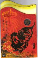 SINGAPORE 2005 ANNO DEL GALLO SERIE UFFICIALE 6 VALORI TOP PRICE - Singapore