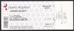 Portugal 2008 - Music Concert/ Festival - JAMES BLUNT - Campo Pequeno, Lisboa - Concert Tickets