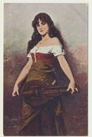 AK  Sichel Mädchen Aus Der Fremde Gypsy - Autres Illustrateurs