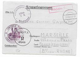 1940 - PRISONNIERS DE GUERRE - LETTRE FM De L'OFLAG V A => MARSEILLE Avec CENSURE COMMISSION UP - Marcophilie (Lettres)