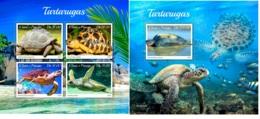 Sao Tome 2019 Turtles Fauna Turtle MS+S/S ST190509 - Sellos