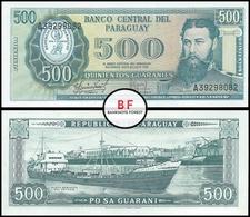 Paraguay | 500 Guaranies | 1982 | P.206a | Sig.5 | UNC - Paraguay