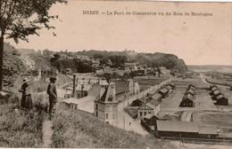 Cpa 29 BREST Le Port De Commerce Vu Du Bois De Boulogne , Animée , Dos Vierge - Brest