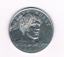 //  TOKEN  GEOFF HURST  ENGLAND WORLD CUP  SQUAD  MEXICO  1970 ESSO - Monete Allungate (penny Souvenirs)