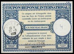 ALGERIE Handstamp ÉTAT ALGÉRIEN / FRANCE Lo17Internat. Reply Coupon Reponse Antwortschein IAS IRC O BONE 24.9.62 Pdv! - Algérie (1924-1962)