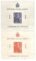 San Marino 1938 Lincoln 3+5 Lire S. Foglietti 2-3 Nuovi Ma Ingiallimenti Fra.569 - Nuovi