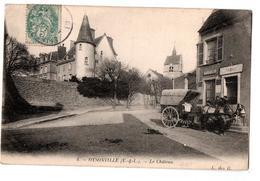 OYSONVILLE LA CHATEAU TELEPHONE TABAC ATTELAGE ANIMEE - France