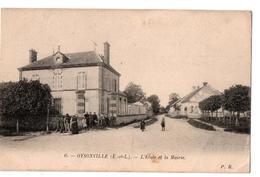 OYSONVILLE L EGLISE ET LA MAIRIE  ANIMEE - France