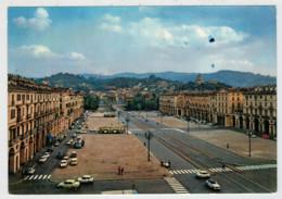 TORINO   PIAZZA  VITTORIO  VENETO  E  GRAN  MADRE  DI  DIO  (TARGHETTA ) 2 SCAN              (VIAGGIATA) - Parcs & Jardins