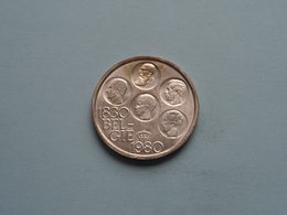 1980 VL - 500 FRANK - Morin 801 ( UNCLEANED COIN - For Grade, Please See Photo ) ! - 1951-1993: Baudouin I