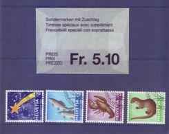 Svizzera 1996 - Pro Juventute, 4v Annullo Lusso - Usati