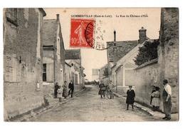 GOMMERVILLE LA RUE DU CHATEAU D EAU TRES ANIMEE - France