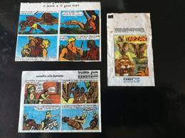 """TARZAN WAX WRAPPERS LOT - CANDYGUM BUBBLE GUM """"Le Avventure Dell'uomo Della Foresta"""" 1970 - Other"""