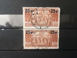 FRANCOBOLLI STAMPS POLONIA POLAND 1934 USED REDEFINED POSTAL RATES OVERPRINTS OBLITERE' POLSKA - 1919-1939 Repubblica