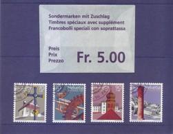 Svizzera 1996 - Pro Patria. Beni Culturali E Paesaggi, 4v Annullo Lusso - Usati