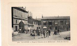 83 LA SEYNE FORGES ET CHANTIERS SORTIE DES OUVRIERS CARTE GAUFREE - La Seyne-sur-Mer
