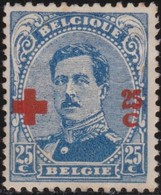 Belgie  .   OBP   .      156         .   *    .   Ongebruikt Met Charnier  .   /  .      Neuf Avec Charniere - 1918 Rotes Kreuz