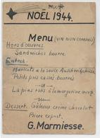 NOEL 1944 - CAMP De AUSCHWITZ !! - MENU De REPAS De PRISONNIERS Au DOS CARTE ENTIER HITLER - SIGNATURE Des PARTICIPANTS - Postmark Collection (Covers)