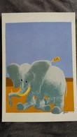 ELEPHANT CARTE SERIE TROMPE L OEIL ILLUSTRATEUR DOBRITZ IL N EST PAS HORS NORMES IL EST DANS L ENORME HUMOUR - Elefanti