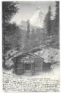 """Le Cervin Près Zermatt - Cpa  """"précurseur"""" 1900 - Ed. J.J. N° 1336 - VS Valais"""