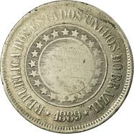 Monnaie, Brésil, 200 Reis, 1889, TB, Copper-nickel, KM:493 - Brésil
