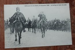 AVENEMENT DU ROI ALBERT 23 DECEMBRE 1909 - LE CORTEGE EN COURS DE ROUTE - Belgique