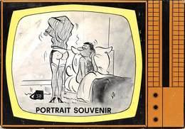 PIE.Montr.19-9722 : PORTRAIT SOUVENIR PAR ALEXANDRE. LA TELEVISION. - Humour