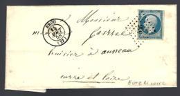 LETTRE EN PROVENANCE DE BROU - EURE ET LOIR - 1858 - - 1849-1876: Période Classique