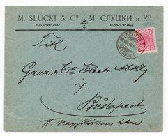 1898. SERBIA JUDAICA, BELGRADE TO BUDAPEST, HUNGARY, M. SLUCKI - Serbia