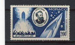 MONACO - Y&T Poste Aérienne N° 60* - MH - Jule Verne - De La Terre à La Lune - Luftfahrt