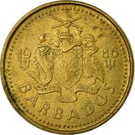 Monnaie, Barbados, 5 Cents, 1986, Franklin Mint, TTB, Laiton, KM:11 - Barbados (Barbuda)