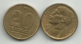 Brazil 20 Centavos 1954. - Brasil