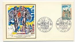 FRANCE-REUNION - Enveloppe Thiaude FDC - Le Clos-Lucé - 24/6/1973 - Covers & Documents