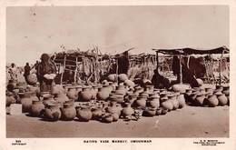 OMDURMAN, SUDAN - NATIVE VASE MARKET - DATED 1928~ AN OLD RP POSTCARD #94802 - Sudan