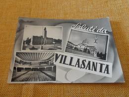CARTOLINA SALUTI DA VILLASANTA-VEDUTINE-VIAGG.1958- - Monza
