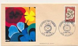 FRANCE-REUNION - Enveloppe Thiaude FDC - Journée Du Timbre 1974 (Tri Automatique) - 9/3/1974 - Reunion Island (1852-1975)