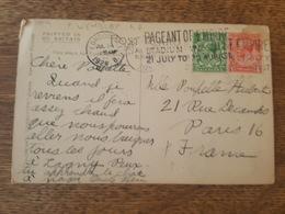 Flamme London W.I 1924 B. - Pageant Of Empire, Stadium Wembley - Destination Paris, Poupette Hubert - 1902-1951 (Rois)