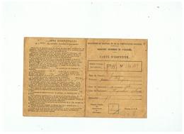 CARTE D'IDENTITE RETRAITE OUVRIERES ET PAYSANNES LIQUIDATION DE PENSION A WImy (NORD)1922 - Non Classificati