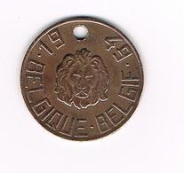 //  BELGISCHE  NATIONALE  HONDENBELASTINGPENNING  1949  LEEUWENKOP  N°036615 - Belgique