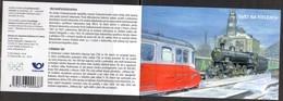CZECH REPUBLIC, 2018, MNH, TRAINS, TRAMS, BOOKLET OF 8v - Trains