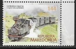 MACEDONIA, 2018, MNH, TRAINS,1v - Eisenbahnen