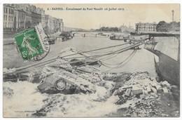 Nantes Ecroulement Du Pont Maudit (16 Juillet 1913) Rare Avec Cachet De La Poste Inconnu Et Non Réclamé - Nantes