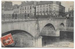Nantes Ecroulement Du Pont Maudit 16 Juillet 1913 Rare Avec Cachet De La Poste Non Réclamé - Nantes