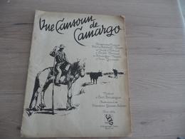 Partition Ancienne Une Cansoun De Camargo Boussigue Baroncelli Gaussen Arven... 20p Taureaux Camargue - Musica Popolare