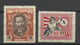 LITAUEN Lithuania Michel 283 & 286 * - Litauen
